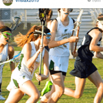 An Instagram screenshot of Taylor playing lacrosse.